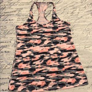 Lululemon pink camo tank top